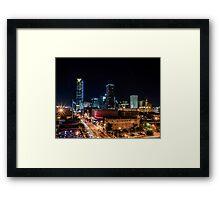 Downtown Oklahoma City at Night Framed Print