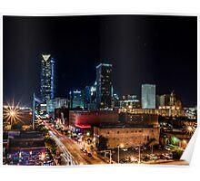 Downtown Oklahoma City at Night Poster