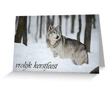 Timber Wolf Christmas Card Dutch 6 Greeting Card