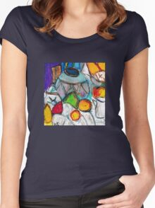 Pottery & Fruit (after Cezanne) Women's Fitted Scoop T-Shirt