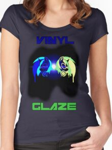 Vinyl Scratch and Glaze Women's Fitted Scoop T-Shirt