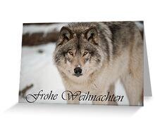 Timber Wolf Christmas Card German 8 Greeting Card