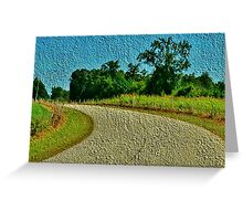 The Country Road - greeting card Greeting Card