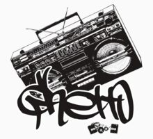 Ghetto Blaster  Kids Tee