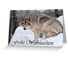 Timber Wolf Christmas Card German 10 Greeting Card