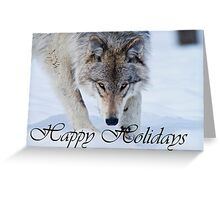 Timber Wolf Holiday Card 12 Greeting Card