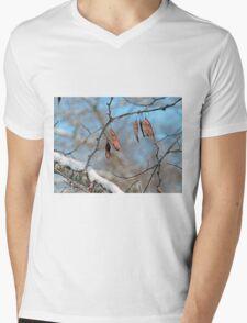 Snowy Branch Mens V-Neck T-Shirt