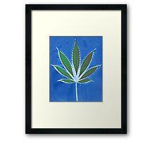 Hemp Lumen #8 Leaf Marijuana/Cannabis/Weed Framed Print