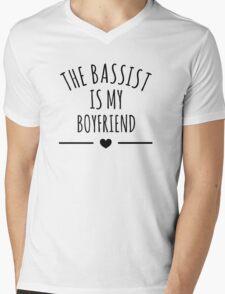 the bassist is my boyfriend Mens V-Neck T-Shirt