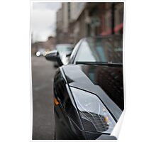 Black Lamborghini Superleggera Front View  Poster