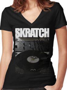 Skratch 1 Women's Fitted V-Neck T-Shirt