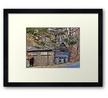 Old Shed Along the Road Framed Print