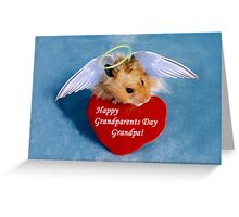 Grandparents Day Grandpa Hamster Greeting Card