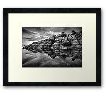 Burst-BW Framed Print