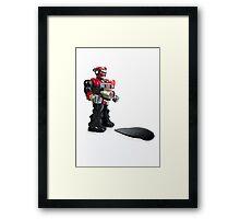 Robot Wizz Framed Print