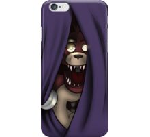 Peeking Foxy (without curtain stars) iPhone Case/Skin
