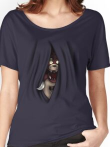 Peeking Foxy (without curtain stars) Women's Relaxed Fit T-Shirt