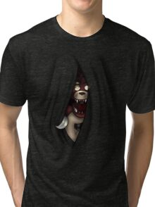 Peeking Foxy (without curtain stars) Tri-blend T-Shirt