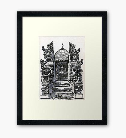 Bali : Market Temple Framed Print