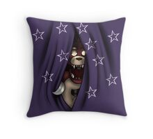 Peeking Foxy (with curtain stars) Throw Pillow