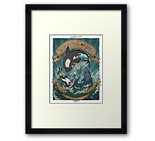 Swimming Anime Framed Print