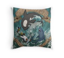 Swimming Anime Throw Pillow