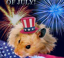 Fourth of July Hamster by jkartlife