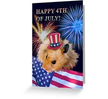 Fourth of July Hamster Greeting Card