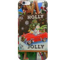 Christmas Holly Jolly Sign iPhone Case/Skin