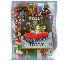 Christmas Holly Jolly Sign Poster
