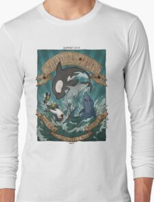 Swimming Anime Long Sleeve T-Shirt