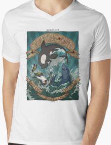 Swimming Anime Mens V-Neck T-Shirt