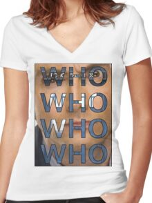Descending Doctor Who Women's Fitted V-Neck T-Shirt