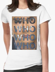 Descending Doctor Who Womens Fitted T-Shirt