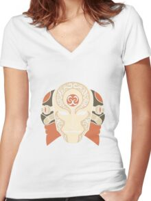 The Voice In The Night Women's Fitted V-Neck T-Shirt