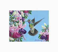 Hummingbird and Fuchsias Unisex T-Shirt