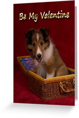 Be my Valentine Sheltie Puppy by jkartlife