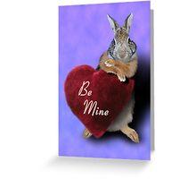 Be Mine Bunny Rabbit Greeting Card