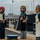 Scallop Fisherman and Woman by Leonie Morris