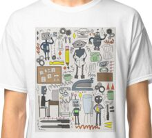 robots at work Classic T-Shirt