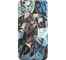 Three Men Playing Cards iPhone Case/Skin