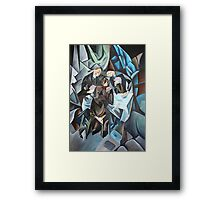 Three Men Playing Cards Framed Print