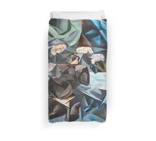 Three Men Playing Cards Duvet Cover