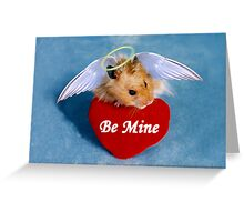 Be Mine Angel Hamster Greeting Card