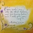 """""""I Will Give You Rest"""" by Melissa Goza"""