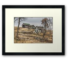 Empty Old Houses Framed Print