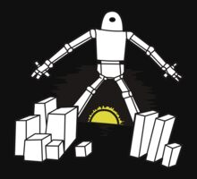 Robot in the sunset Kids Clothes