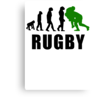 Rugby Tackle Evolution (Green) Canvas Print