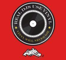 Real DJs Use Vinyl (+ DJ Welly Logo) by Paul Welding