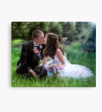Smith Wedding Portrait Canvas Print